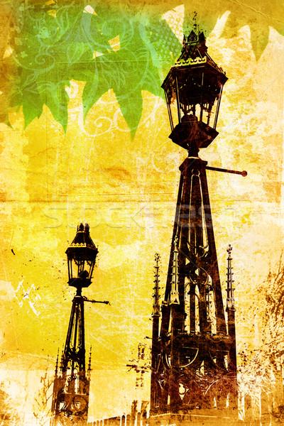 Grunge London lampposts Stock photo © lubavnel