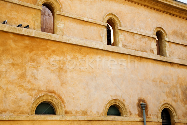 rustic wall with arched windows Stock photo © lubavnel