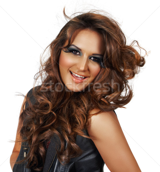 beautiful woman with long hair Stock photo © lubavnel