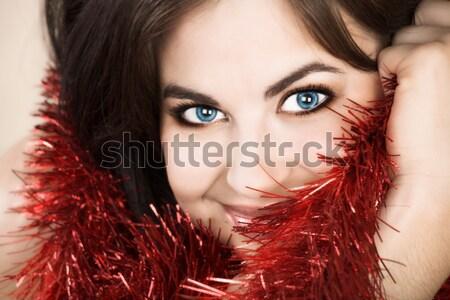 beautiful happy latin woman with tan skin  Stock photo © lubavnel