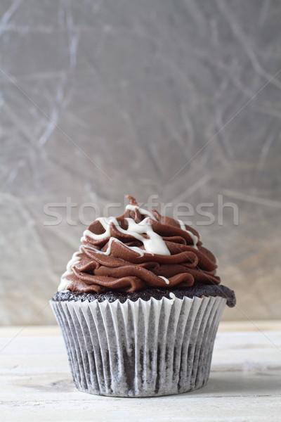 сливочный шоколадом Шоколадный мусс кремом Сток-фото © lubavnel