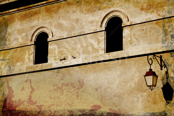 grunge wall with arched window Stock photo © lubavnel