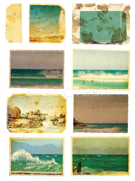 Grunge mar cartão conjunto cartões templates Foto stock © lubavnel