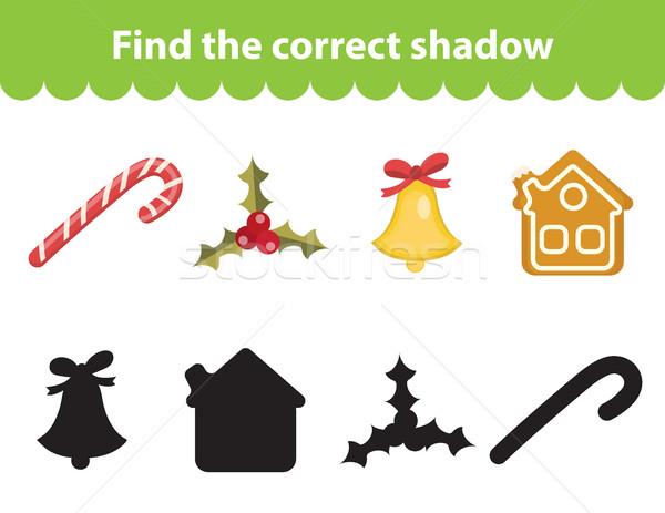 Ninos educativo juego encontrar corregir sombra Foto stock © lucia_fox