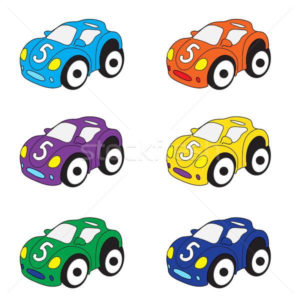 дети автомобилей Cartoon набор игрушками автомобилей Сток-фото © lucia_fox