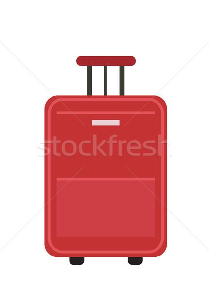 Viaggio valigia icona stile ruote bagaglio Foto d'archivio © lucia_fox