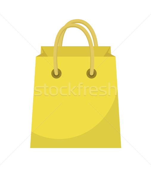 Shopping bag icon flat style. Paper bags isolated on a white background. Gift package. Vector Illust Stock photo © lucia_fox