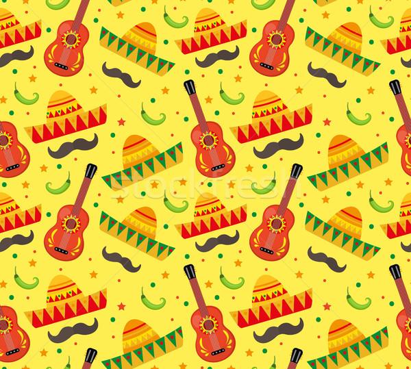 メキシコ料理 休日 エンドレス テクスチャ ストックフォト © lucia_fox