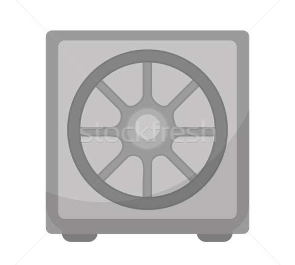 Safe icon, flat design. Deposit Box isolated on white background. Vector illustration, clip art. Stock photo © lucia_fox