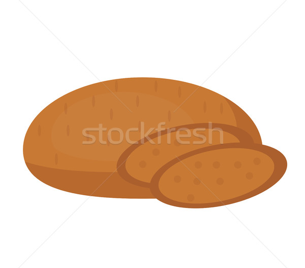 Rye bread icon. Flat design, isolated on white background. Vector illustration, clip art. Stock photo © lucia_fox