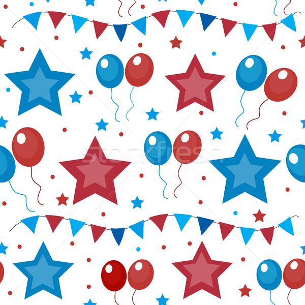 Amerykański USA banderą dzień Zdjęcia stock © lucia_fox