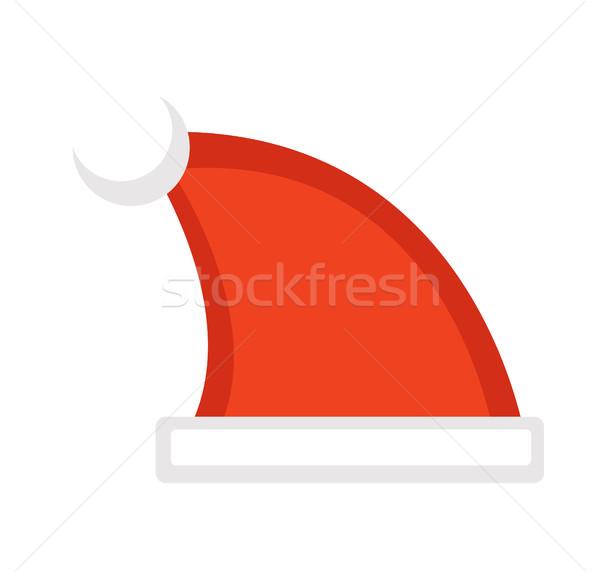 Hoed vector icon geïsoleerd witte Stockfoto © lucia_fox