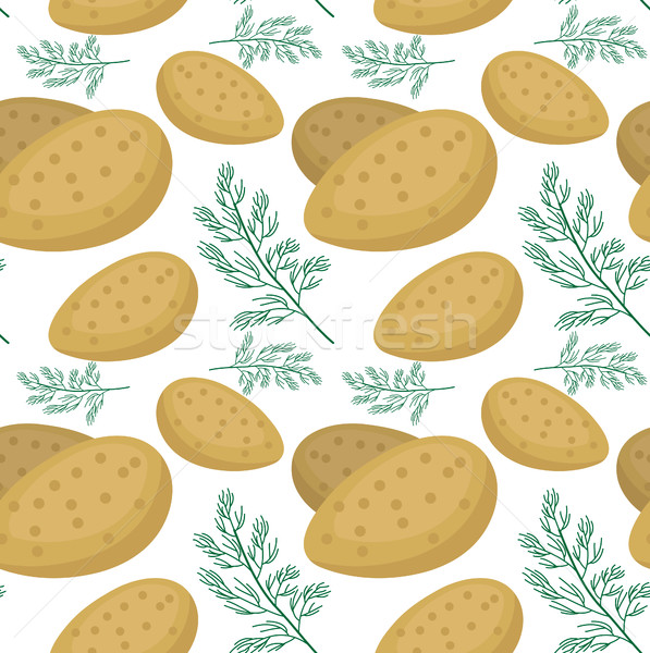 Krumpli végtelen minta végtelen textúra zöldség háttér Stock fotó © lucia_fox