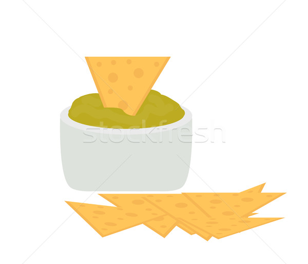 Nachos icono Cartoon estilo aislado blanco Foto stock © lucia_fox