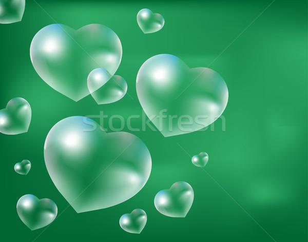 реалистичный мыльные пузыри капли воды форма Сток-фото © lucia_fox