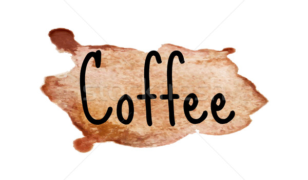 Coffee inscription on watercolor background. Vector illustration Stock photo © lucia_fox
