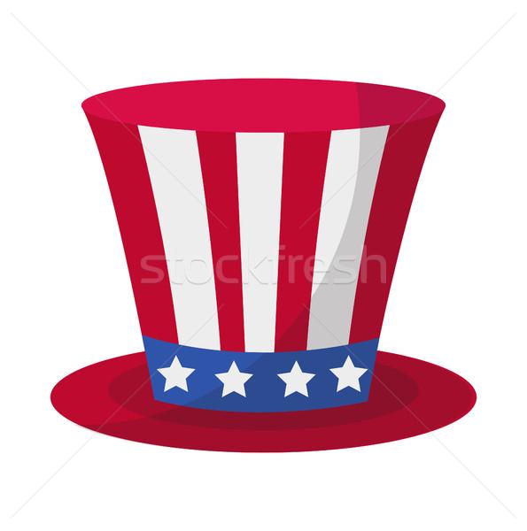 Henger kalap ikon stílus negyedike izolált Stock fotó © lucia_fox