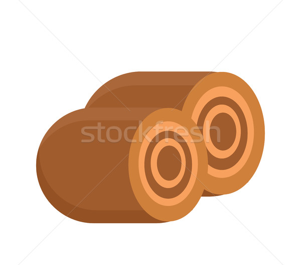 Bun roll with stuffing icon. Flat design, isolated on white background. Vector illustration, clip ar Stock photo © lucia_fox
