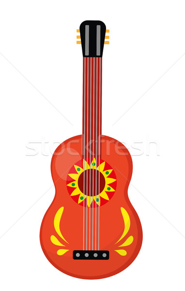 Cuatro guitar icon, flat style. Mexican musical instrument. Isolated on white background. Vector ill Stock photo © lucia_fox