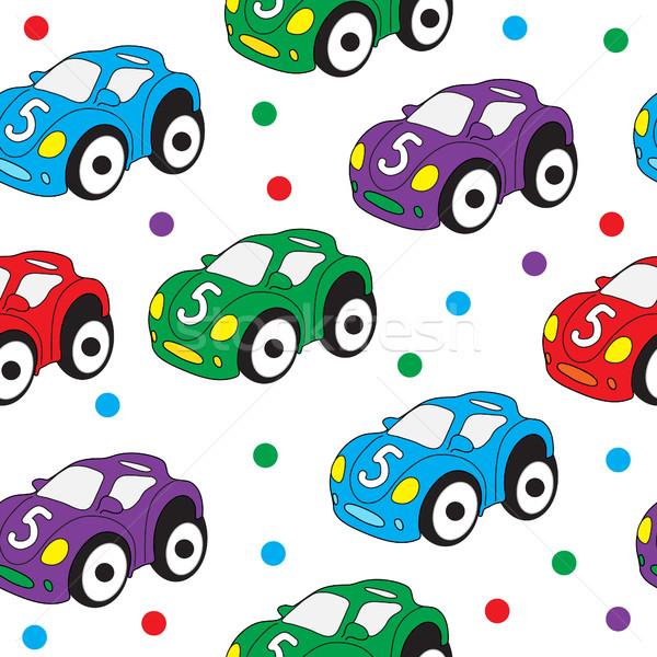 Сток-фото: детей · игрушку · автомобилей · бесшовный · текстуры · обои