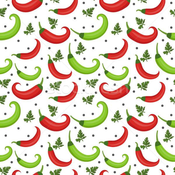 Сток-фото: перец · красный · зеленый · бесконечный