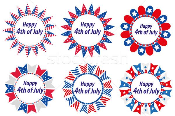 Stok fotoğraf: Gün · Amerika · Amerika · Birleşik · Devletleri · ayarlamak · kareler · bayraklar