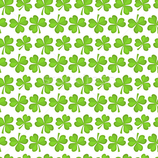 Clover seamless pattern. St. Patricks Day endless repeated backdrop, texture, wallpaper. Luck symbol Stock photo © lucia_fox