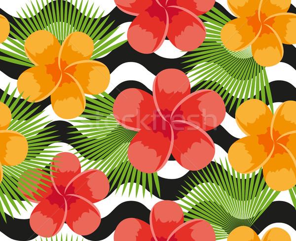 Foto stock: Tropicales · flores · plantas · hojas · animales · piel