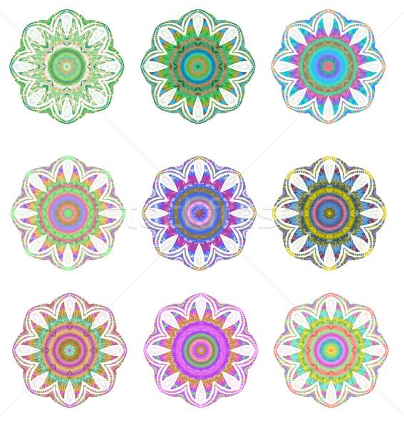 мандала набор геометрический круга элемент Сток-фото © lucia_fox