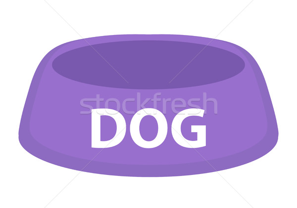 Dog bowl for food icon flat, cartoon style. Isolated on white background. Vector illustration, clip- Stock photo © lucia_fox