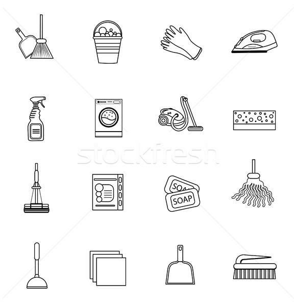 洗浄 現代 行 スケッチ いたずら書き ストックフォト © lucia_fox