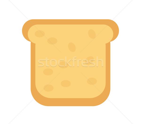 Slice of  bread icon. Flat design, isolated on white background. Vector illustration, clip art Stock photo © lucia_fox