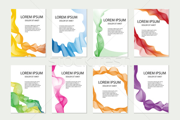 Abstract template set for brochures, corporate identity, flyer, poster. Company style collection wit Stock photo © lucia_fox