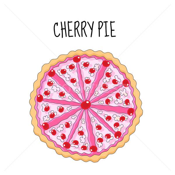 桜 ケーキ 誕生日ケーキ チェリー ベクトル ストックフォト © lucia_fox
