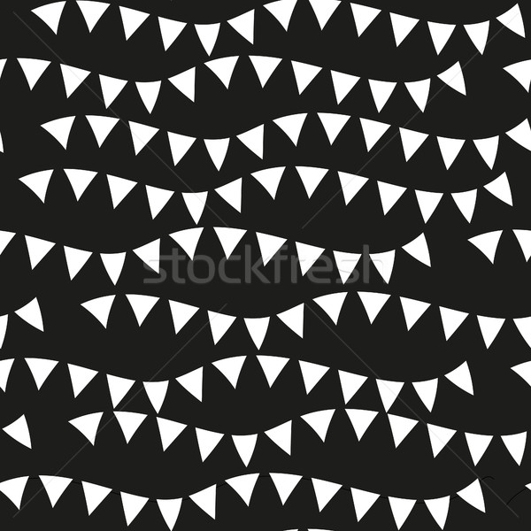 Black monochrome seamless patterns. Geometric repeating texture, endless background. Vector illustra Stock photo © lucia_fox