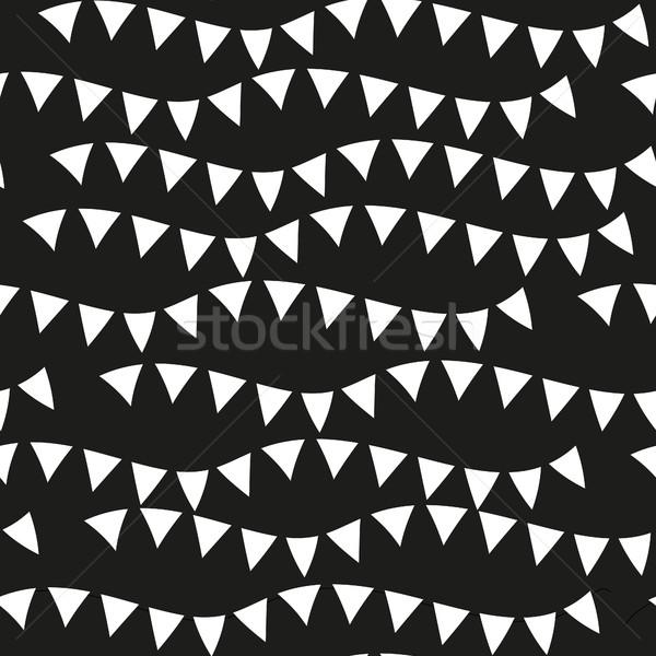 黒 モノクロ 幾何学的な テクスチャ ストックフォト © lucia_fox