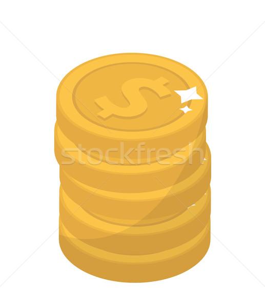 Stockfoto: Munt · ontwerp · gouden · munten · cent · geïsoleerd · witte