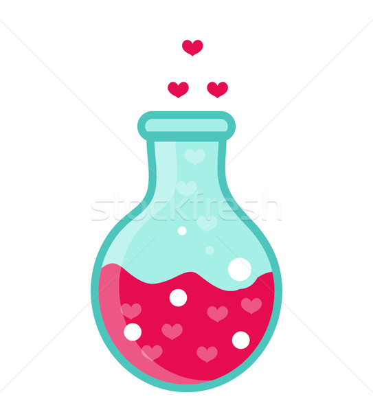 Love Potion icon, flat design. Isolated on white background. Vector illustration, clip art. Stock photo © lucia_fox