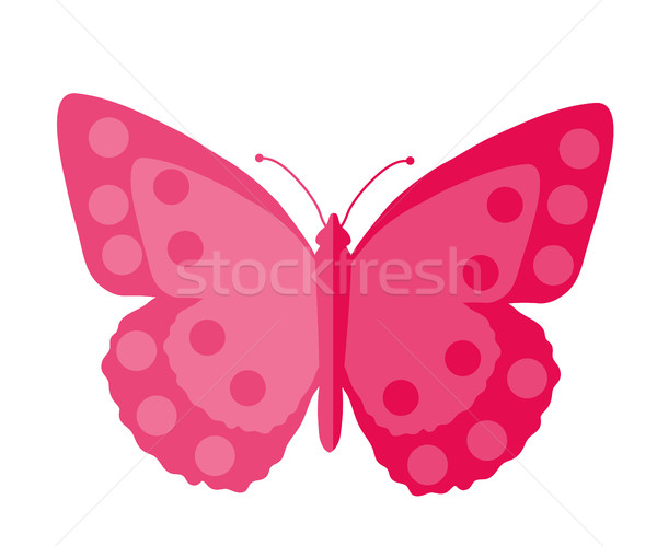 Pink Butterfly, flat design. Isolated on white background. Vector illustration, clip art. Stock photo © lucia_fox