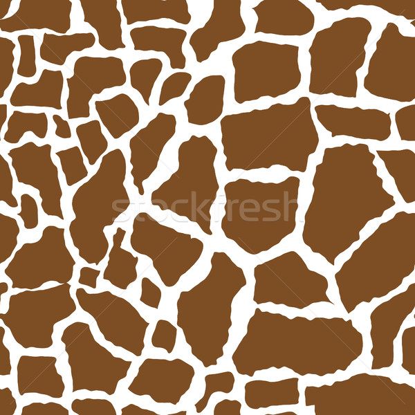 Giraffe skin seamless pattern. African animals concept endless background, repeating texture. Vector Stock photo © lucia_fox