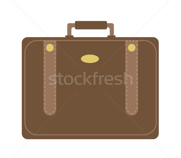 Stok fotoğraf: Iş · bavul · ikon · stil · yalıtılmış · beyaz