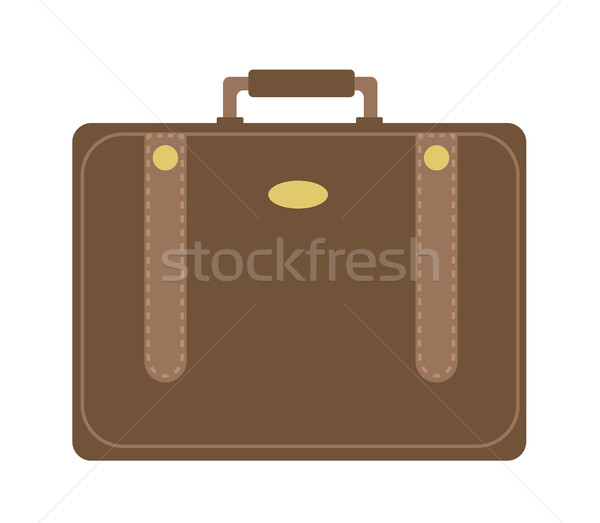 Business koffer icon stijl geïsoleerd witte Stockfoto © lucia_fox