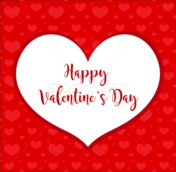 Sevgililer günü çerçeve kart kâğıt soyut kalp Stok fotoğraf © lucia_fox