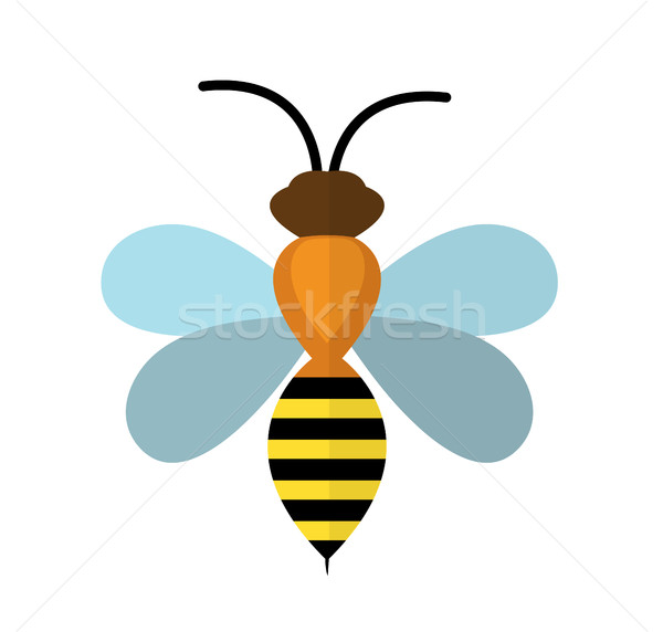 Bee icon.  isolated on white background. Vector illustration Stock photo © lucia_fox