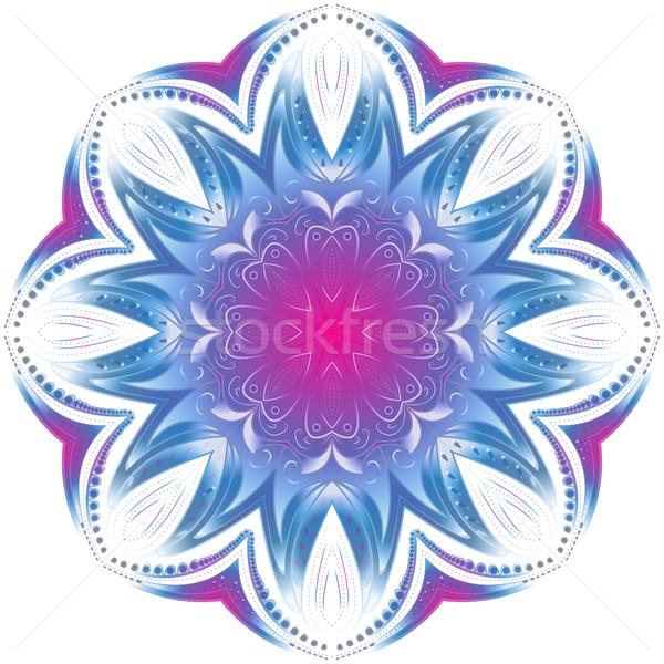 幾何学的な サークル 曼陀羅 装飾 休日 ストックフォト © lucia_fox