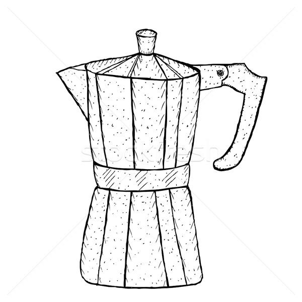 間欠泉 コーヒー スケッチ 手 図面 スタイル ストックフォト © lucia_fox