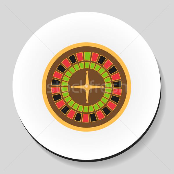 Roleta cassino jogo adesivo ícone estilo Foto stock © lucia_fox
