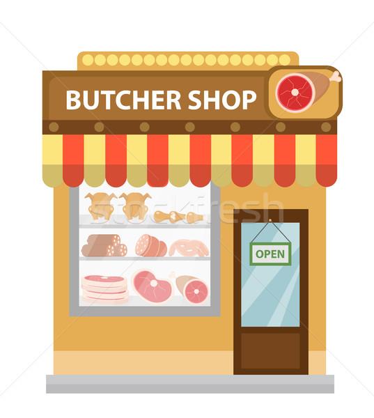 Açougueiro compras carne ícone estilo Foto stock © lucia_fox