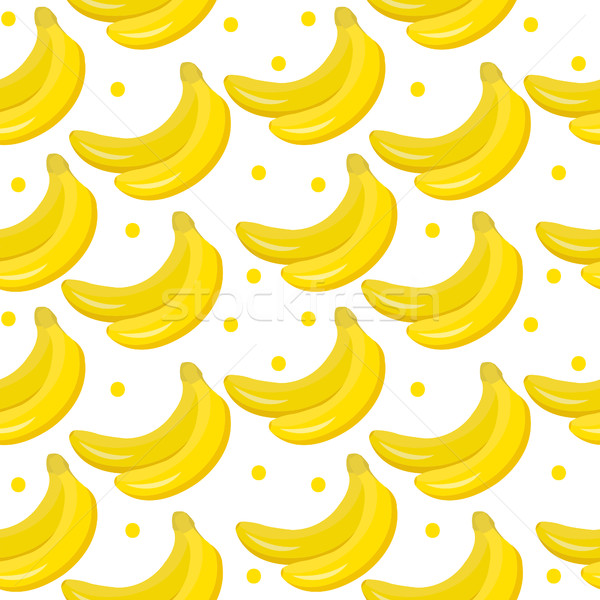 Banana seamless pattern. endless background, texture. Fruits backdrop. Vector illustration. Stock photo © lucia_fox