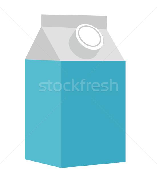 ミルク ボックス アイコン スタイル 孤立した 白 ストックフォト © lucia_fox